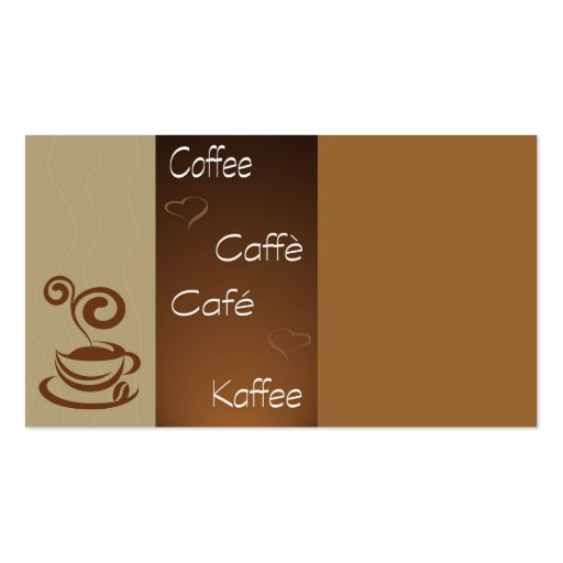 coffee hour Double-Sided standard business cards (Pack of 100)