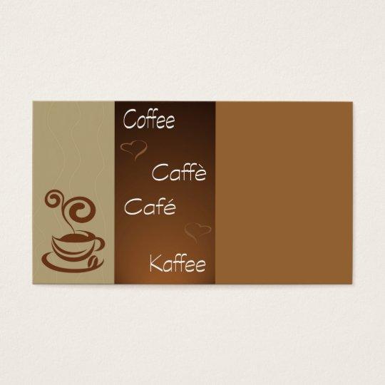 coffee hour business card