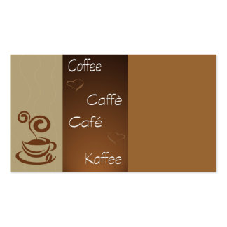 coffee hour business card templates
