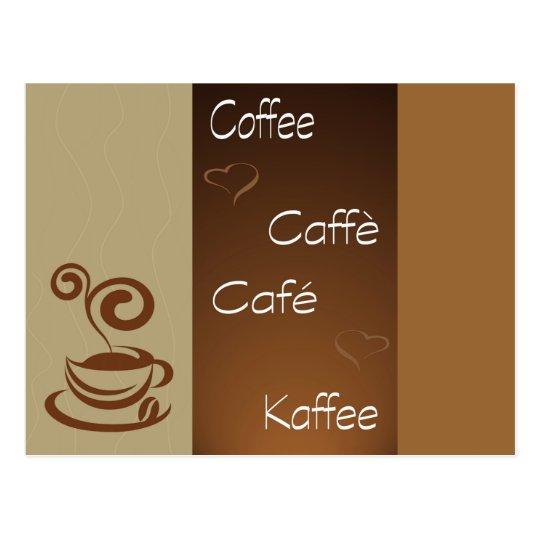 coffee hour postcard