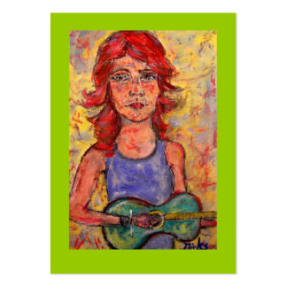 coffee house acoustic girl business cards