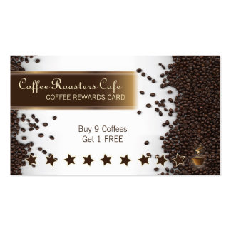 Coffee House Cafe Rewards Card Business Card
