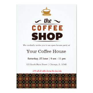 Grand opening coffee house gifts on zazzle coffee house card stopboris Images
