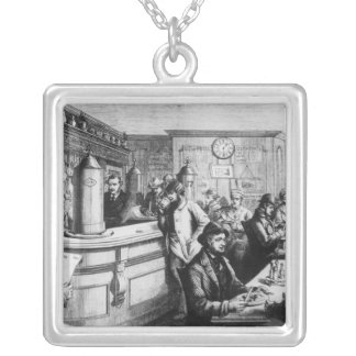 Coffee house, Clerkenwell Square Pendant Necklace