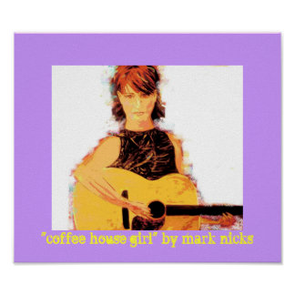 """coffee house girl"" poster"