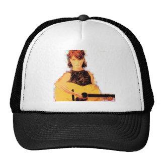coffee house girl trucker hat
