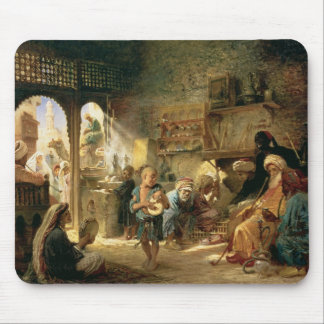 Coffee House in Cairo, 1870s Mouse Pad