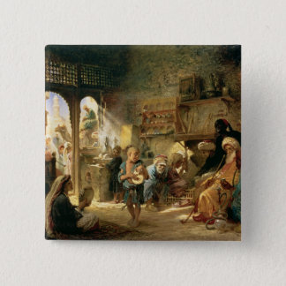 Coffee House in Cairo, 1870s Pinback Button