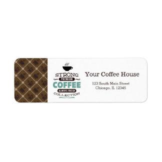 Coffee House Return Address Label