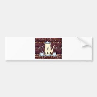 Coffee House Menu Bumper Sticker