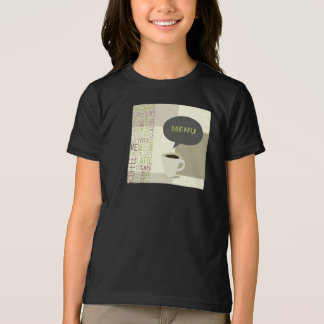 Coffee House Menu Girls T-Shirt