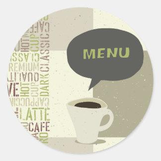 Coffee House Menu Stickers