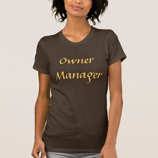 Coffee House Owner Manager T Shirt. Brown and Moch