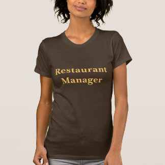 Coffee House Restaurant Manager T Shirt