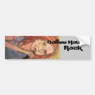 coffee house rock girl bumper sticker