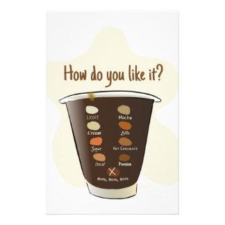 Coffee — How Do You Like It? Stationery
