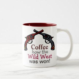 Coffee, how the Wild West was won! Two-Tone Coffee Mug