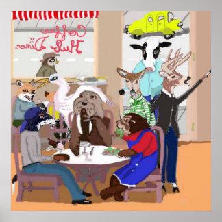 Coffee Hub Diner Poster