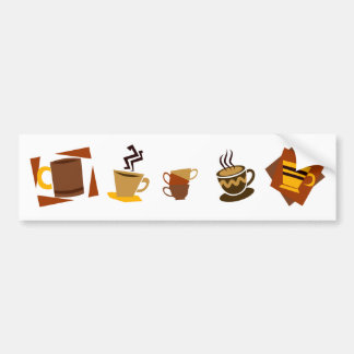 Coffee Icons Bumper Stickers