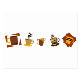 Coffee Icons Postcard