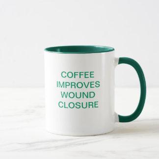 COFFEE IMPROVES WOUND CLOSURE MUG