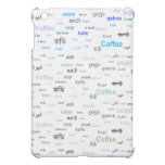 Coffee in different languages - blue case for the iPad mini