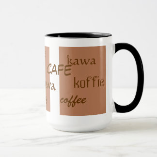coffee (in different languages) mug
