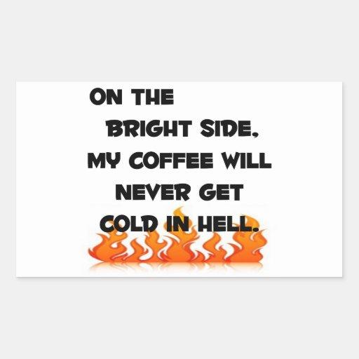 Coffee in Hell Rectangular Sticker
