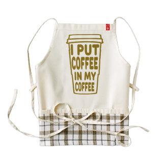 Coffee In My Coffee Zazzle HEART Apron