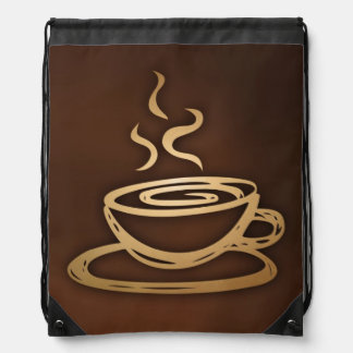 Coffee In My Cup Drawstring Bag