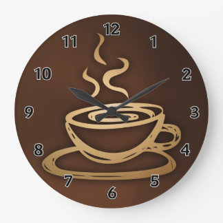Coffee In My Cup Large Clock
