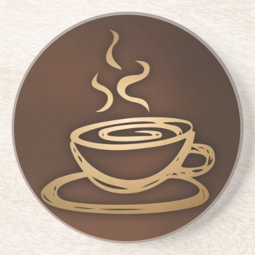 Coffee in my cup sandstone coaster zazzle - Stone coasters for drinks ...