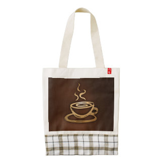 Coffee In My Cup Zazzle HEART Tote Bag