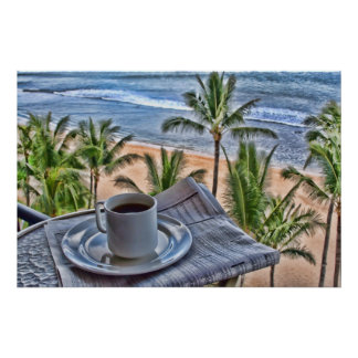 Coffee In Paradise Poster