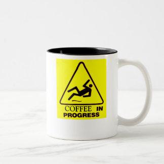 Coffee in progress Two-Tone coffee mug