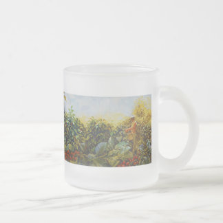 Coffee in the Park Mural by Master Henry Villada 10 Oz Frosted Glass Coffee Mug