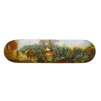 Coffee in the Park Mural by Master Henry Villada Skateboard Deck
