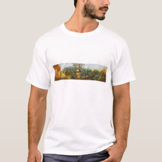 Coffee in the Park Mural by Master Henry Villada T-Shirt