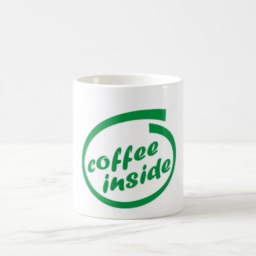 Coffee inside (cafe). Funny hot drink mug. Zazzle