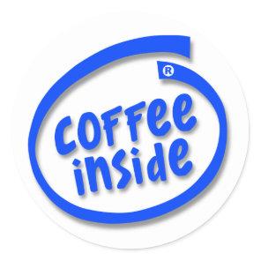Coffee Inside Classic Round Sticker