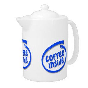 Coffee Inside Funny Parody Teapot