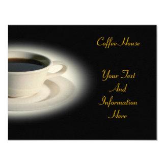 """Coffee Invitation 4.25"""" X 5.5"""" Invitation Card"""