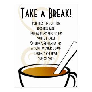 Coffee Invitation Postcard
