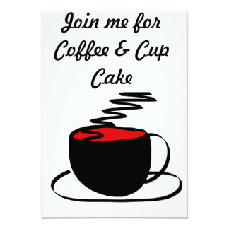 coffee invite card