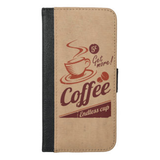 Coffee iPhone 6/6s Plus Wallet Case
