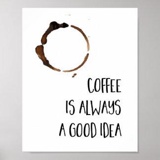Coffee Is Always A Good Idea Kitchen Print