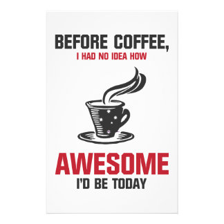 Coffee is Awesome Stationery