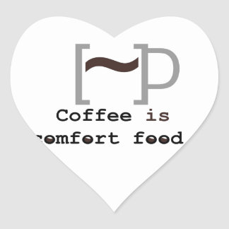 Coffee is Comfort Food Heart Sticker