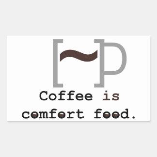 Coffee is Comfort Food Rectangular Sticker