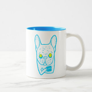 Coffee is Frenchie's best friend Two-Tone Coffee Mug